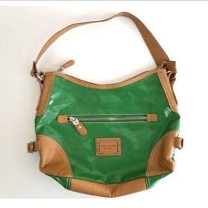 Tommy Hilfiger Handbag Purse Green and Brown